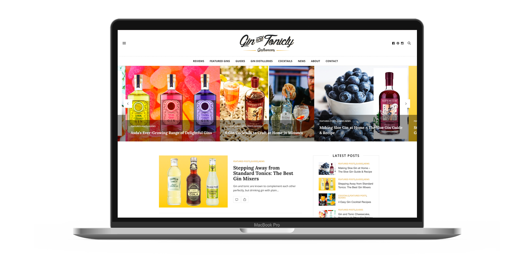 Gin & Tonicly Website